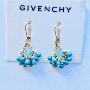 Givenchy Petite Turquoise Cluster Earrings